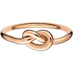 Finn Love Knot Ring in Rose Gold found on Polyvore