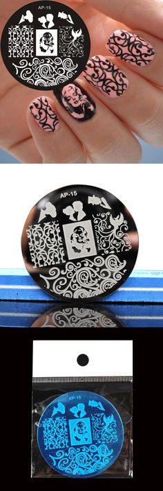 [Visit to Buy] Marilyn Monroe Pattern Nail Art Stamp Template Image Plate Nail Stamping Plates Pandox AP15 Nail Art Decoration #Advertisement