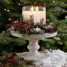 Winter candle display