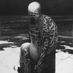 Zdzisław Beksiński untitled - 1984, 92 x 88 cm