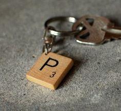 sleutelhanger scrablle-letter