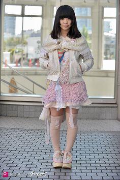 MISHIO Shibuya, Tokyo AUTUMN 2012, GIRLS Kjeld Duits STUDENT, 19  Blouson – Keisuke Kanda Dress – Rurum Socks – otonasium Shoes – TOKYO BOPPER