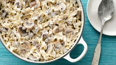 This beef stroganoff recipe is basically magic. Just five ingredients, and completely ready to serve in 25 minutes! If the addition of evaporated milk has you doubting this recipe, never fear—it cooks with the noodles to create an unbelievably creamy sauce, all in one pot. And talk about easy—you don't even need to drain the beef. Just keep adding ingredients and let them simmer together into a satisfying stroganoff that's the very definition of comfort food.