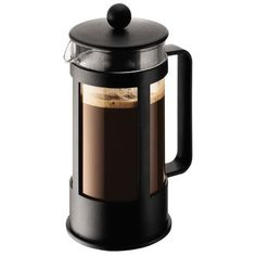 Black Crema Coffee Press by Bodum 8 cup An 8 cup coffee press made