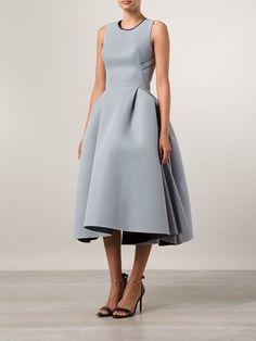 Maticevski Structured Mesh Dress - Chalk - Farfetch.com