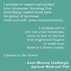 Against Wind and Tide - Anne Morrow Lindbergh