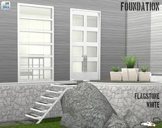 –––––– SIMS 4 RESOURCES –––––– SOURCE: sims 4 downloads . net | TYPE: build mode – flagstone white foundation | TAGS: stone, house, building, cc, custom content, download