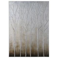 Uttermost Sterling Trees Hand Painted Art