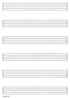 blank music staff to print - Google Search
