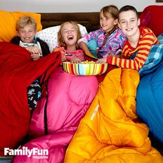 A Camp-In With Cousins: Gather the youngest generation for a sleepover packed with fun stuff that celebrates family, including a giggle-inducing game, a home-baked treat, and cute DIY keepsakes.
