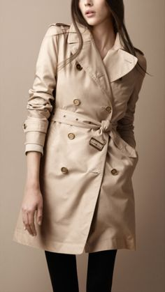 Burberry - Double breasted metallic detail trench coat