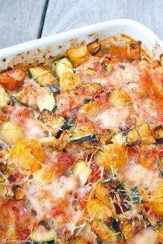 Ovenschotel met kip en Italiaanse groenten - Lovemyfood.nl    Zonder aardappel koolhydraten arm