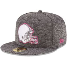 Cleveland Browns New Era 2016 Breast Cancer Awareness Sideline 59FIFTY Fitted  Hat - Heather Gray 44ff74177703