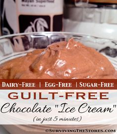 Guilt-Free CHOCOLATE ice cream recipe!!   Tastes AMAZING and has just a few ingredients (and takes less than 5 minutes to make!)