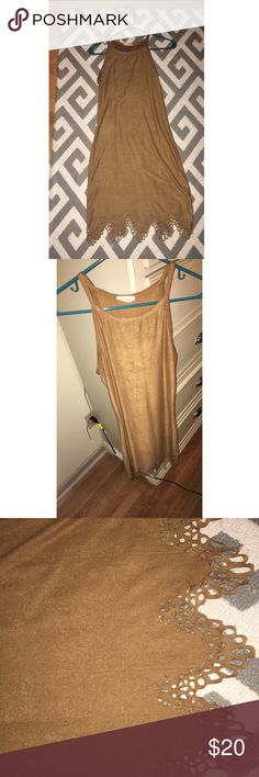 Dress It's a mustard colored dress, tight fitting, worn only once so in great condition! Feels like faux suede! Dresses