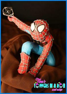 Fondant spiderman topper