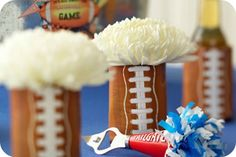 Soup Can Football Vases