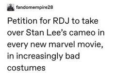 "I prefer the idea of having Deadpool cameos, either the ""popcorn"" style or the "". - I prefer the idea of having Deadpool cameos, either the ""popcorn"" style or the ""Oh shit, I' - Avengers Memes, Marvel Memes, Marvel Avengers, Marvel Funny, Marvel Dc Comics, Tony Stark, Iron Man, Deadpool, Nos4a2"