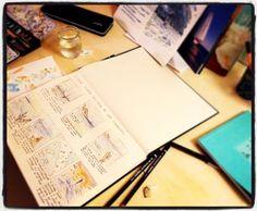 #sketch for @acquadelleba #logbook shown in #elba #island, #florence, #siena, #rome, #como and #venice Window Display Design, Window Displays, Elba Island, Siena, Florence, Venice, Rome, Sketch, Concept