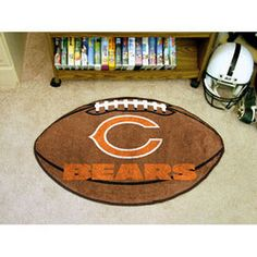 a0ea270152 shop Chicago Bears NFL Football Floor Mat 22 x35