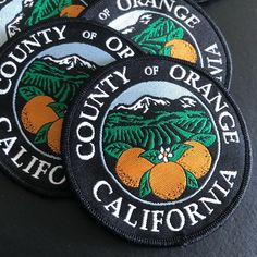 Awesome new patches for Orange County, California!