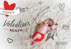 Photo fun with baby cupid!