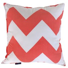 Chevron cushion cover in coral $37.46