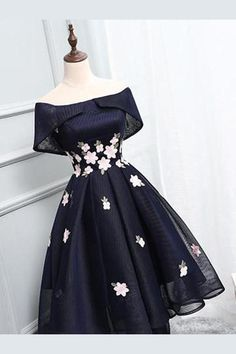 Off Shoulder Homecoming Dresses,Navy Blue Homecoming Dresses, Short Prom Dress, Simple Dresses, Elegant Dresses, Pretty Dresses, Beautiful Dresses, Formal Dresses, Awesome Dresses, Long Dresses, Casual Dresses, Cheap Dresses
