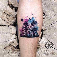 "7,152 Beğenme, 62 Yorum - Instagram'da KORAY • KARAGÖZLER (@koray_karagozler): ""• D E E P • F O R E S T •  #forest #nature #naturelovers #moon #night #animals #watercolor…"""