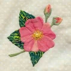 25 different wild flower quilt.  blocks - Rosa California