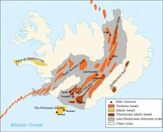 Volcanic system of Iceland-Map-en - Geography of Iceland - Wikipedia, the free encyclopedia