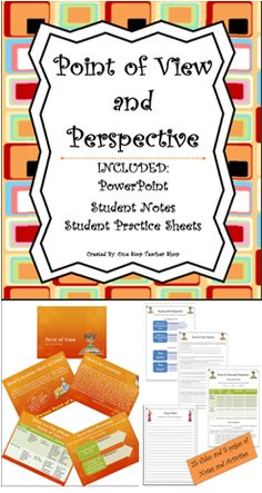 Group of Resources for teaching Point of View and Perspective (Common Core).