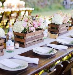 Antique Tea Crates: Make these DIY centerpieces for your rustic wedding!
