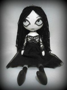 Gothic Art Rag Doll Faye by ChamberOfDolls on Etsy