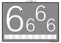 Exercice pour apprendre à tracer le chiffre 6