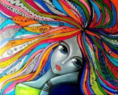 Risultati immagini per romina lerda artist Art Pop, Abstract Face Art, Chicken Art, Art Plastique, Tribal Art, Acrylic Painting Canvas, Indian Art, African Art, Love Art
