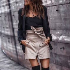 Wrapped ⚡️ all about miniskirts lately. FASHIONED|CHIC