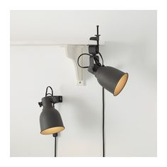 HEKTAR Wall/clamp spotlight - IKEA in white for the bunk beds. Our budding readers are going to love these and there are small enough no one should get injured during fort building.