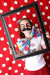 Circus Photo Booth Ideas-a great way to get people involved just have afew different frames so more than one group can participate. Have a backdrop and voila!