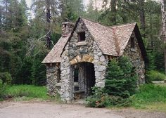 Living roof stone cottage