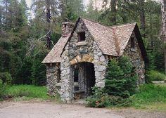 Stone Cottage House Plans Tiny Romantic Cottage House Plan with Stone House Plans Cottage Fairytale Cottage, Storybook Cottage, Stone Cottages, Cabins And Cottages, Country Cottages, Country Houses, Cottage House Plans, Cottage Homes, Cottage Bedrooms