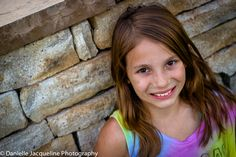 Young Girl Photography Poses Outdoor Picture Ideas using brick wall. Pretty Brunette, Summer portrait