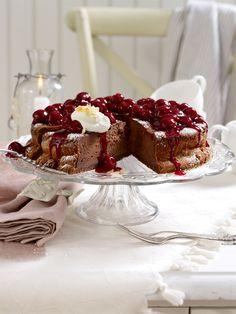 Gut Kirschen essenWir lieben Kirschen. Und Kuchen mit Kirschen ganz besonders. Mit Schokolade und knusprigen Streuseln verfeinert - 24