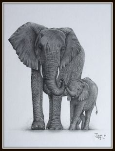 baby tattoos for moms 624452304570775397 - Elephant mom and baby by IngeLammers Baby Elephant Drawing, Elephant Family Tattoo, Mother And Baby Elephant, Elephant Tattoo Design, Baby Drawing, Elephant Love, Elephant Tattoos, Elephant Art, African Elephant