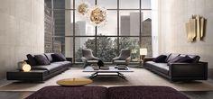 modular sofa with contemporary look