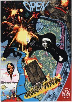 Tadanori Yokoo. Sumida Triphony Hall. 1997 Fukuoka, Tarzan, Tadanori Yokoo, Katsuhiro Otomo, Japanese Graphic Design, Film Stills, Moma, Akira, Les Oeuvres