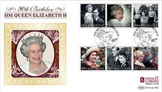 Limited Edition of only HM Queen Elizabeth II, Birthday Stanley Gibbons official first day cover bearing the new Royal Mail stamp set issued to commemorate Her Majesty Queen Elizabeth II's landmark birthday. Royal Mail Stamps, Queen 90th Birthday, First Day Covers, Queen Elizabeth Ii, Great Britain, Birthday Celebration, British, England