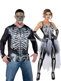 Couples Costumes, halloween costumes couples, Teezerscostumes.com. Halloween, PIN10 for 10% off, Skeleton Couples Costumes, Adult Halloween Costumes, 29617, 29610