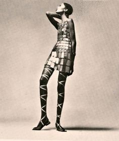 Donyale Luna in a dress by Paco Rabanne, 1966. Photo by Richard Avedon.