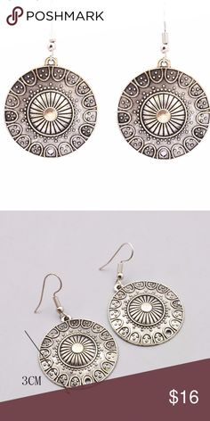 5 for $25 Silver Color Round Earrings Silver Color Round Earrings Jewelry Earrings